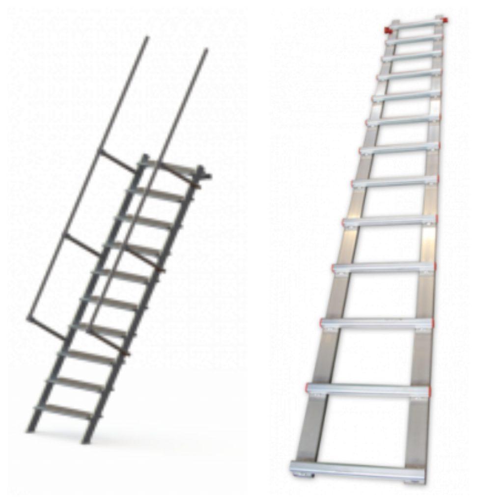 échelle de couvreur et escalier métalique